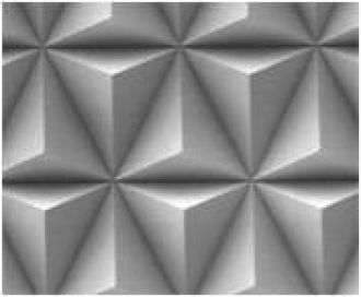 3-sided cubic corner pyramid pattern of jacotech